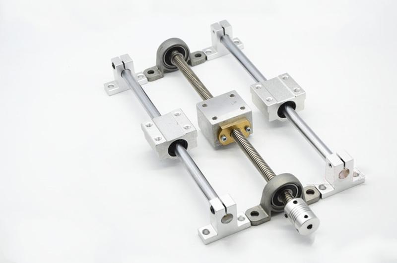 3D-printer-Guide-rail-parts-T8-Lead-Screw-400mm-Optical-axis-400mm-KP08-bearing-bracket-screw