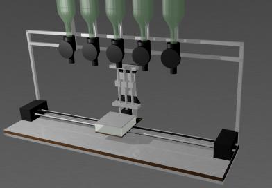 Fabrication d'une machine à cocktail, mécanique de déplacement du verre – partie 2