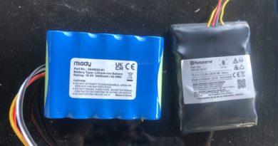 Changement de batterie d'un Husqvarna Automower 315x